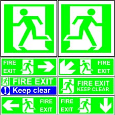 More info on Fire Exit Signs to BS 5499