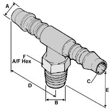 More info on Metric Threaded Tee Connectors
